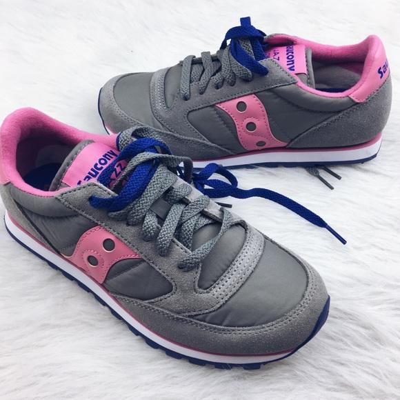79d6a273b2 Saucony jazz low pro pink gray tennis shoe sneaker
